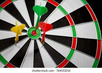 Dart stuck in a dartboard
