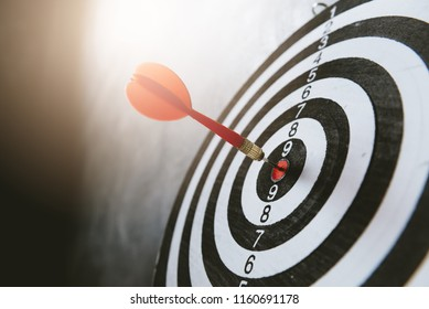 dart target with arrows ,Image for target business, marketing solution concept.