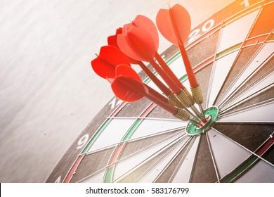 dartboard business strategy ideas concept