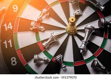 dartboard business strategy ideas concept