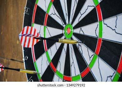 A dartboard close-up