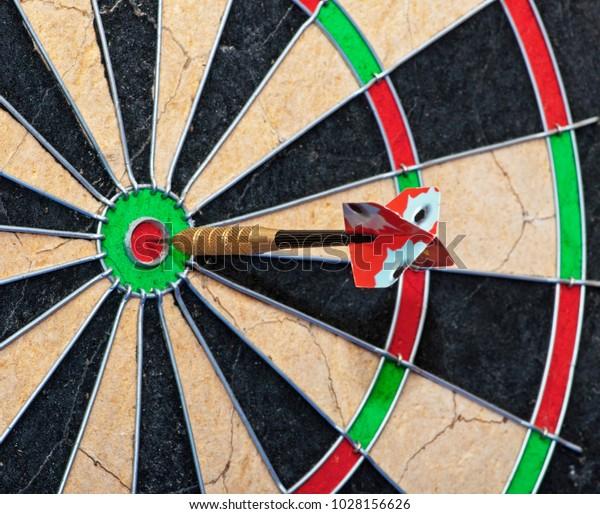 Dartboard Dart Bullseye Sport Pub Related Stock Photo (Edit