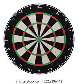 dartboard frontal view isolated on white background