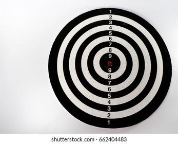 Dartboard on white background.