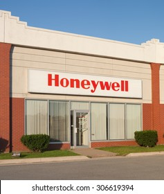 DARTMOUTH, CANADA -AUGUST 16, 2015: Honeywell International Inc. is an American multinational company producing a wide range of products, aerospace systems, and engineering services.