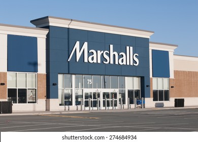 DARTMOUTH, CANADA - MAY 03, 2015: Marshalls is an American chain of department stores owned by TJX. Marshalls has more than 750 stores in The United States and Canada.