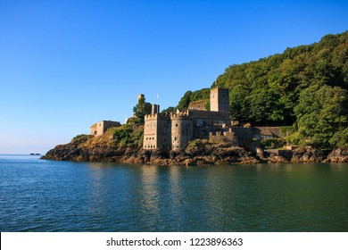 Dartmouth castle in England from the sea