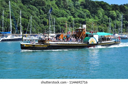 DARTMOUTH, DEVON/UK - June 25, 2018. 'Kingswear Castle' Paddle Steamer on River Dart, Dartmouth, South Devon, England