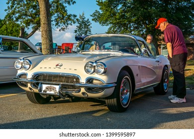 Dartmouth, Nova Scotia, Canada - August 16, 2018 : 1962 Chevy Corvette at weekly A&W Cruise-In, Woodside Ferry terminal parking lot in Dartmouth.