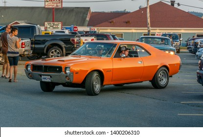 Dartmouth, Nova Scotia, Canada - August 16, 2018 : 1969 AMC Javelin at weekly A&W Cruise-In, Woodside Ferry Terminal parking lot, Dartmouth, Nova Scotia.