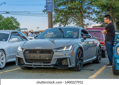 Dartmouth, Nova Scotia, Canada - August 16, 2018 : Audi TT coupe at weekly A&W Cruise-In, Woodside Ferry Terminal parking lot, Dartmouth, Nova Scotia.