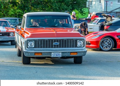 Dartmouth, Nova Scotia, Canada - August 16, 2018: 1972 Chevrolet C10 pickup truck at weekly A&W Cruise-In, Woodside Ferry Terminal parking lot, Dartmouth Nova Scotia.