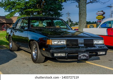 Dartmouth, Nova Scotia, Canada - August 3, 2017 : 1986 Oldsmobile Cutlass at weekly summer A&W Cruise-In at Woodside Ferry Terminal parking lot, Dartmouth Nova Scotia.