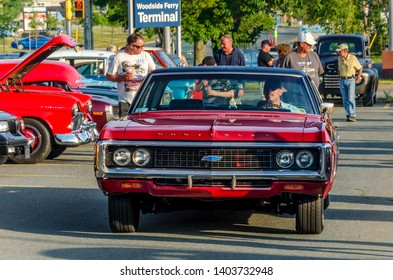 Dartmouth, Nova Scotia, Canada - August 3, 2017 : 1969 Chevrolet at weekly summer A&W Cruise-In at Woodside Ferry Terminal parking lot, Dartmouth Nova Scotia.