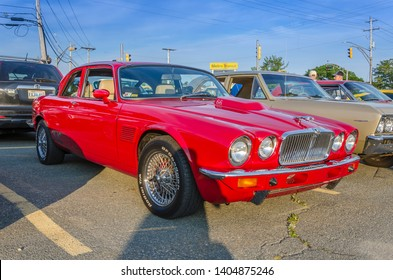 Dartmouth, Nova Scotia, Canada - August 10, 2017 : 1979 Jaguar XJC at weekly A&W summer cruise-in at Woodside Ferry Terminal parking lot, Dartmouth Nova Scotia.