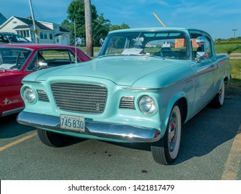 Dartmouth, Nova Scotia Canada - August 20, 2009 : 1959 Studebaker Lark at A&W summer weekly cruise-in at Woodside Ferry Terminal, Dartmouth.