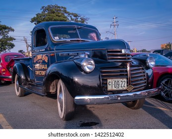 Dartmouth, Nova Scotia Canada - August 20, 2009 : 1942 GMC pickup truck at A&W summer weekly cruise-in at Woodside Ferry Terminal, Dartmouth.