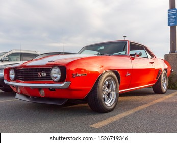 Dartmouth, Nova Scotia, Canada - July 18, 2019 : 1969 Chevy Camaro Z/28 at weekly summer A&W Cruise-In at Woodside ferry terminal parking lot.