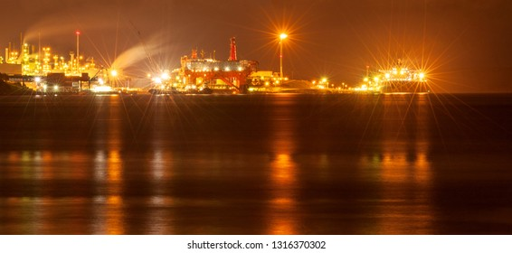 Dartmouth oil refinery and terminal facility near Halifax, Nova Scotia, Canada