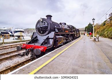 Dartmouth Steam Railway, Kingswear station, locomotive Braveheart