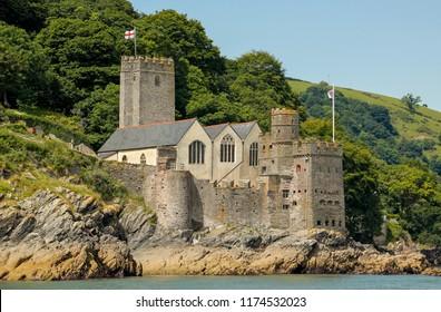Dartmouth, United Kingdom - July 2016: Dartmouth Castle on the River Dart, Devon, United Kingdom