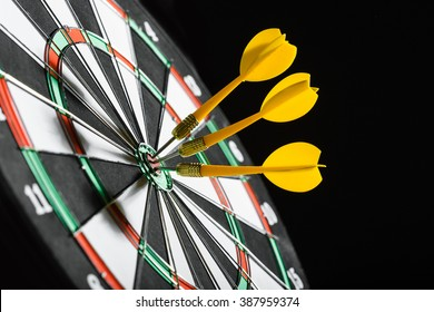 Darts board close up