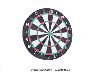 Darts board on white background