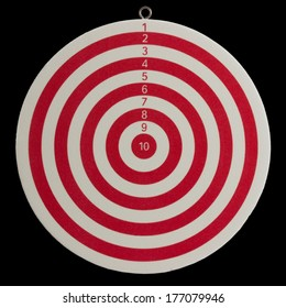 darts on a black background