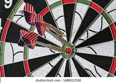 darts in a target, sport, game, hobby