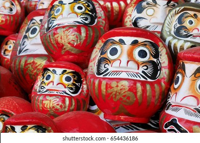 Daruma good luck doll in Japan (foreigner words mean good luck)