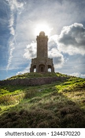 Darwen Tower, also known as Jubilee Tower, situated on the summit of Beacon Hill near Blackburn, Lancashire, England. Completed in 1898