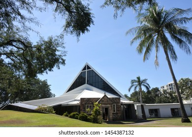 DARWIN, NT - JULY 17 2019: 2019:Christ Church Cathedral Darwin. According to the 2016 census, 3.1 million Australians identify as Anglicans.