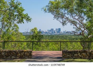 Darwin skyline from Charles Darwin National Park