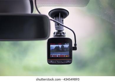 Dash camera in car