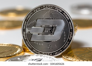 dash crypto coin in front of others
