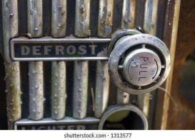 Dashboard detail of vintage US car