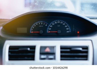 Dashboard of mileage car,Speed meter is gauge that measures and displays
