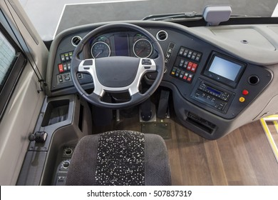 Dashboard of a modern truck