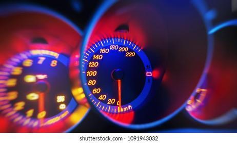 dashboard in sport car