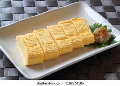 Dashimakitamago, rolled Japanese-style omelette