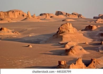 Dasht-e-lut, Pustynia Lut, najgorętsza pustynia na świecie, Iran