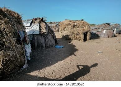 DASSANECH VILLAGE, OMORATE, OMO VALLEY, ETHIOPIA