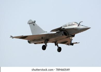 Dassault Rafale fighter jet landing.