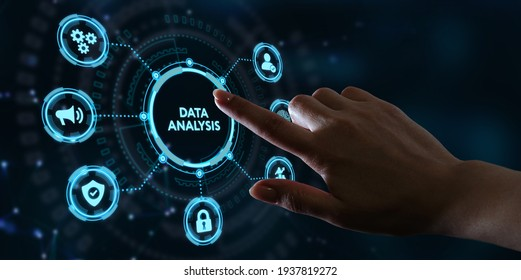 Data Analysis for Business and Finance Concept. Information report for digital business strategy. Business, technology, internet and networking concept