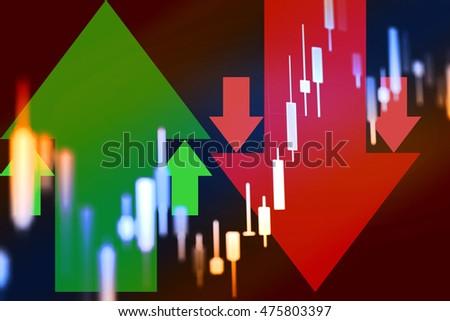 Data Analyzing Commodities Market Trading Charts Stock Photo