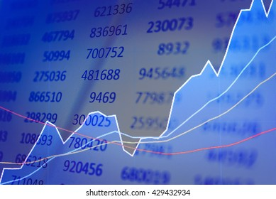 Data analyzing in trading market with pen. Working set for analyzing financial statistics and analyzing a market data. Data analyzing from charts and graph to find out the result.