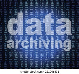 Data Archiving Showing Information Backup And Bytes