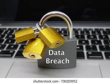 Data Breach Padlock - Data Protection Concept