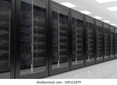 Data center or row of servers