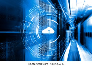 Data cloud storage global network 3D rendering motion background